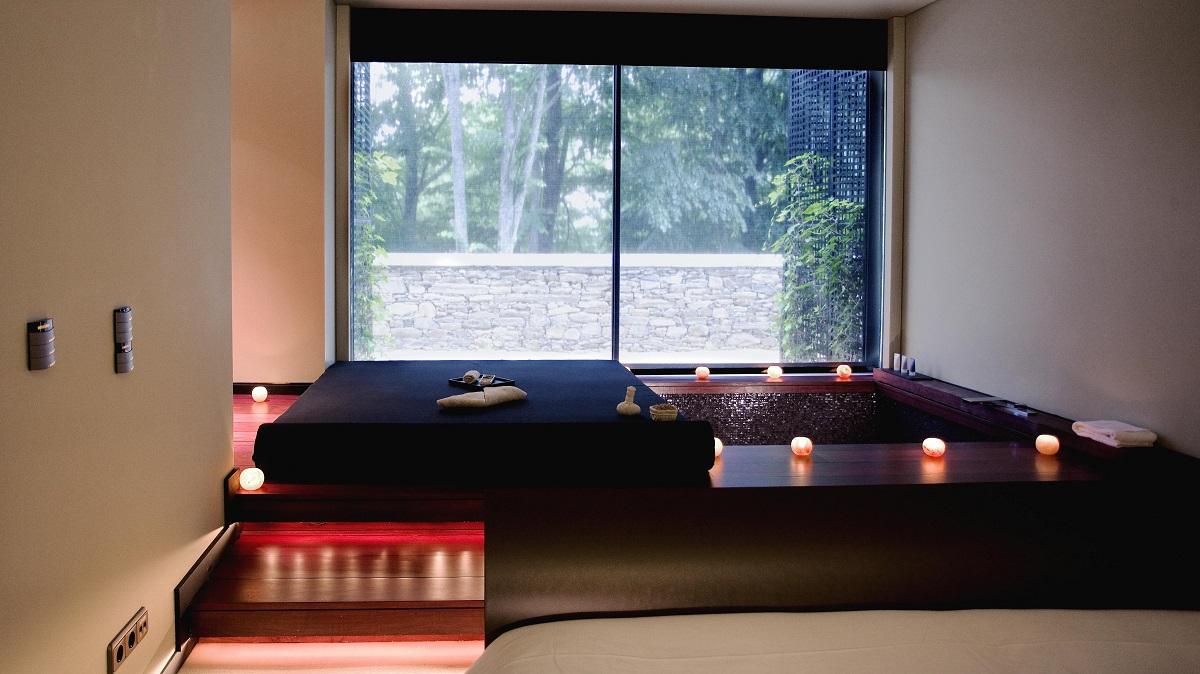 Im Aquapura haben die Suiten einen eigenem Whirlpool und eine tolle Sicht ins Grüne.