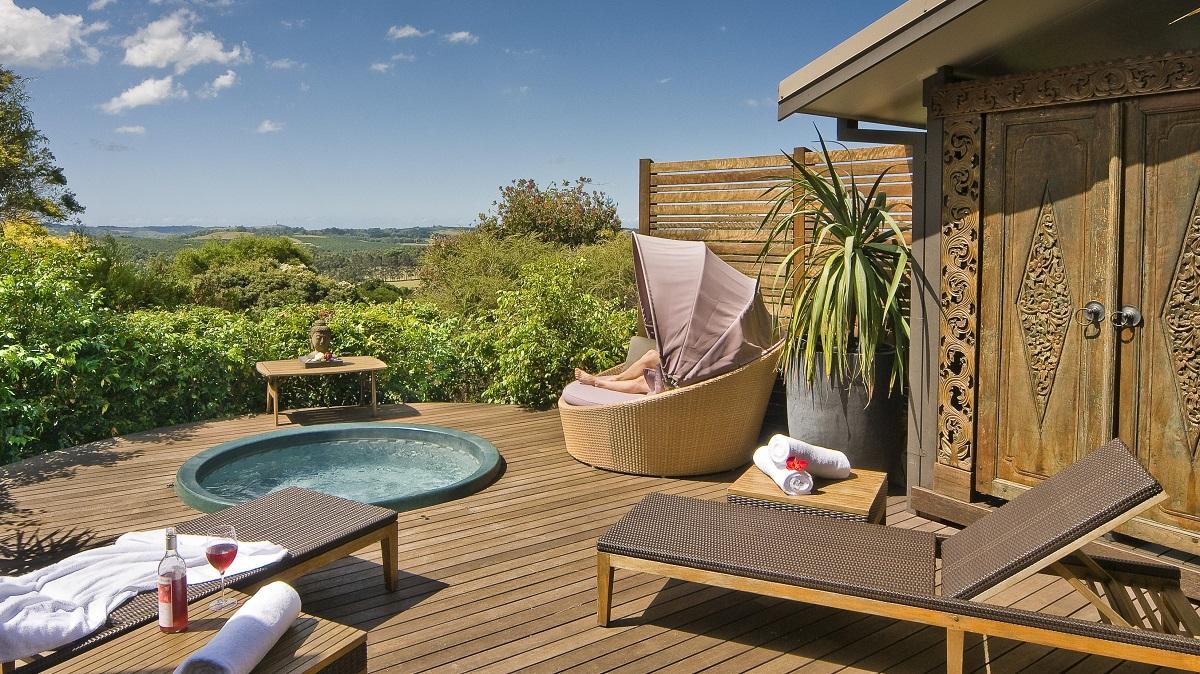 Im Land der Kängurus lässt es sich hier ganz gut aushalten: Im Gaia Retreat Spa.