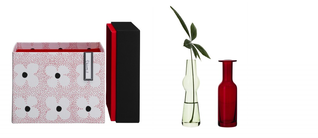 Dürfen wir vorstellen: Box KVITTRA und Vase SOMMARMYS.