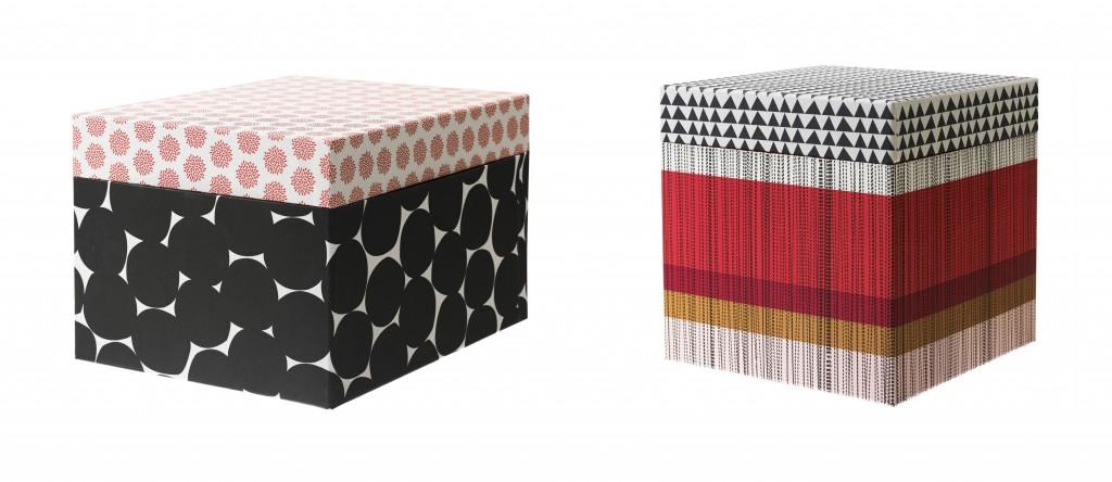 Die Boxen KVITTRA sehen hübsch aus, sorgen für ausreichend Farbe in oft kahlen Büroräumen und unterstützen dich darüber hinaus auch beim Sortieren.