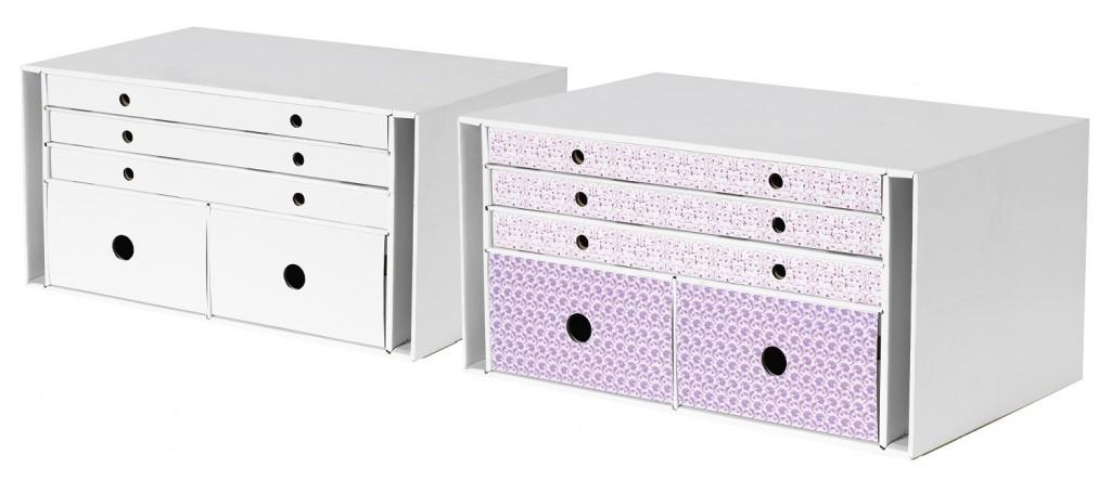 ORDNA - Der Name hält, was er verspricht. Mit diesen simplen, aber praktischen Boxen zauberst du in Windeseile Ordnung auf deinem Schreibtisch oder im Regal nebenan.