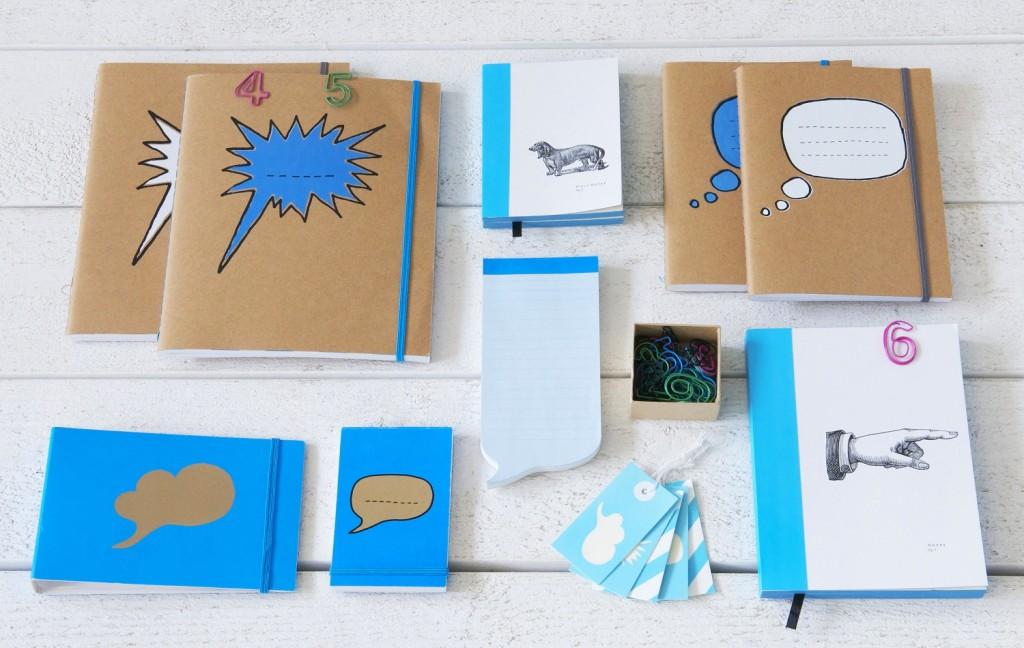 Im neuen Papershop gibts Notizbücher, Skizzenblöcke und andere Schreibtisch-Accessoires.