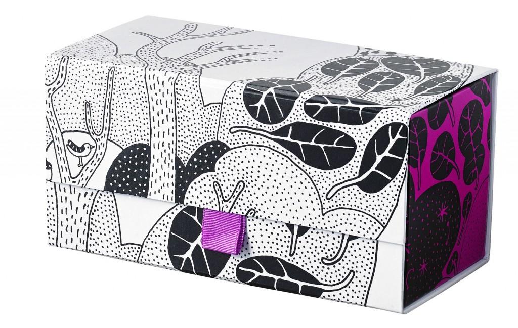 Was eigentlich eine Geschenkbox sein soll, lässt sich super als Ordnungs-Kästchen auf dem Schreibtisch einsetzen.